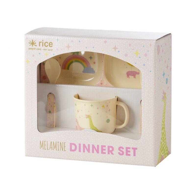 Vierteiliges Baby Dinner Set Mit Tiermotiv