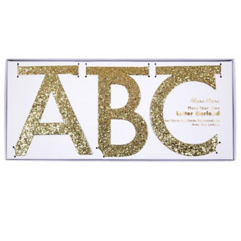 ABC-Girlande Gold